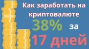 Как заработать на криптовалюте 38 % за 17 дней: полный отчёт
