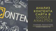 Google Analitics: отчет «Контент сайта»