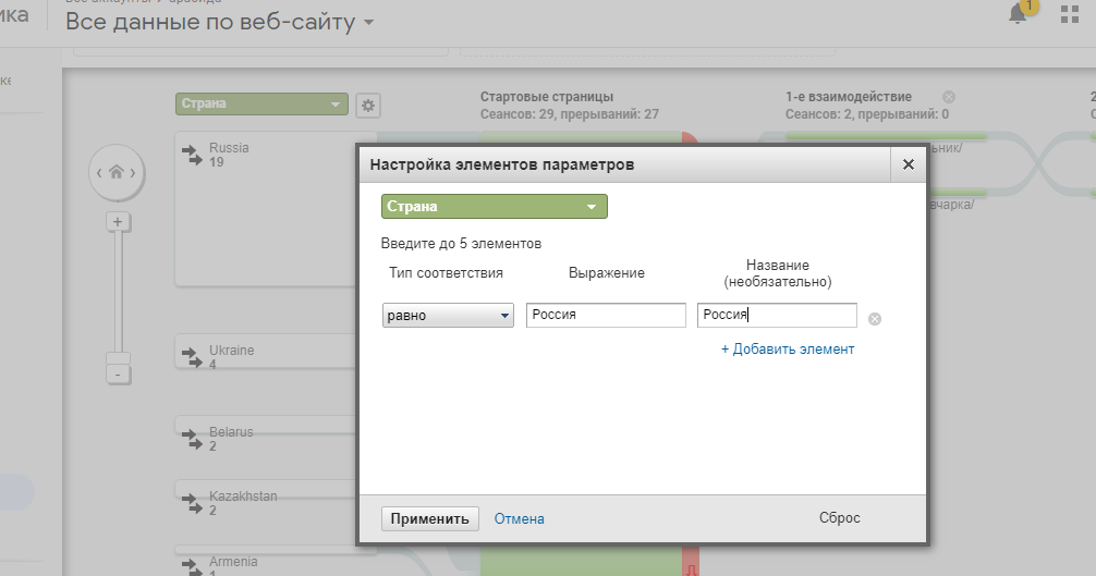 пути пользователей кастомизация параметра